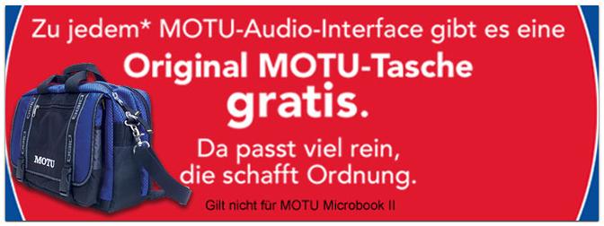MOTU-Tasche gratis dazu: Die große Sommeraktion von MOTU