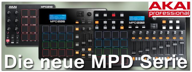 AKAI aktualisiert die erfolgreiche MPD Serie