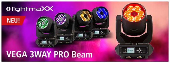 lightmaXX VEGA 3WAY PRO Beam