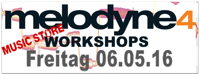 WORKSHOP: Celemony Melodyne 4 am 06.05.16 17h bis 18:30h