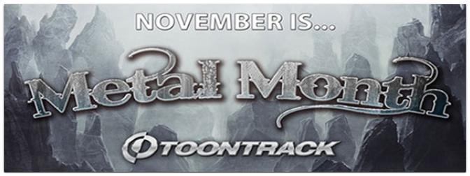 Attraktive Metal-Bundles von Toontrack im Metal Month November