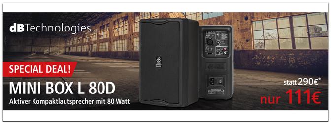 Die dB Technologies MiniBox L 80D ab sofort im Music Store zum Special Deal Preis!