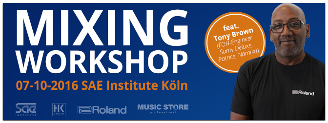 Exklusiver Mixing Workshop am 07.10.2016 mit FOH-Engineer Tony Brown
