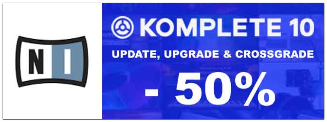 DEAL: Native Instruments Komplete 10 (Ultimate) Update, Upgrade und Grossgrade -50%