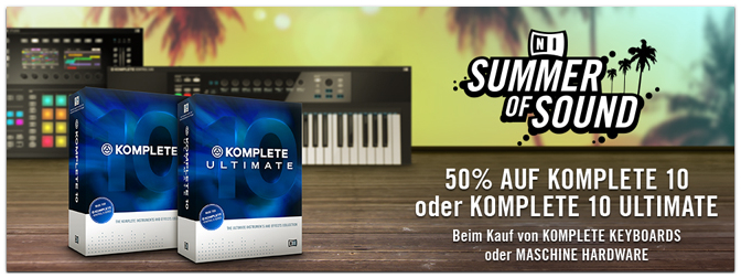 "Native Instruments ""Summer of Sound"" Special im Juni"