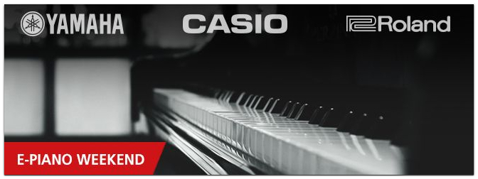 Digitalpiano Weekend mit Casio, Roland & Yamaha