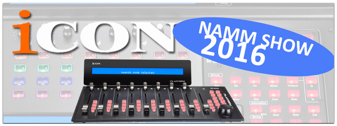 NAMM SHOW 2016: DAW Controller ICON Platform D / Platform M