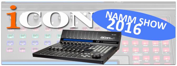 NAMM SHOW 2016 – Neuer DAW Controller: ICON QCon Pro X