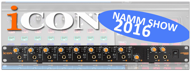 NAMM SHOW 2016: ICON USB Audio Interface UMix1010 Rack