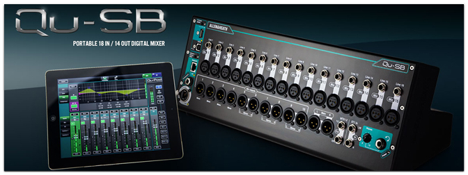 Allen & Heath Qu-SB Digital Mixer mit iPad Steuerung