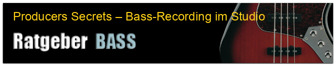 Producers Secrets – Bass-Recording im Studio