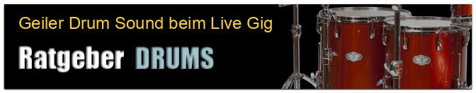 Geiler Drum Sound beim Live Gig