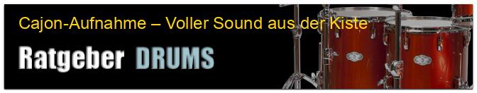 Cajon-Aufnahme – Voller Sound aus der Kiste