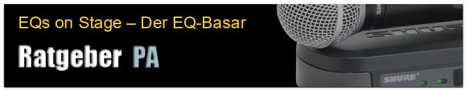 EQs on Stage – Der EQ-Basar