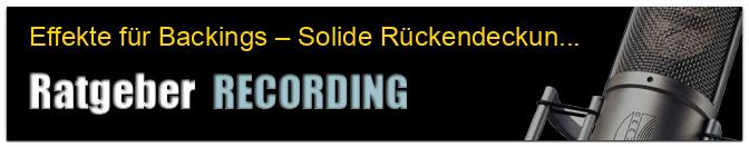 Effekte für Backings – Solide Rückendeckung