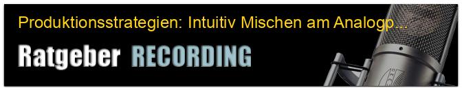 Produktionsstrategien: Intuitiv Mischen am Analogpult