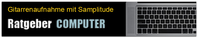 Gitarrenaufnahme mit Samplitude