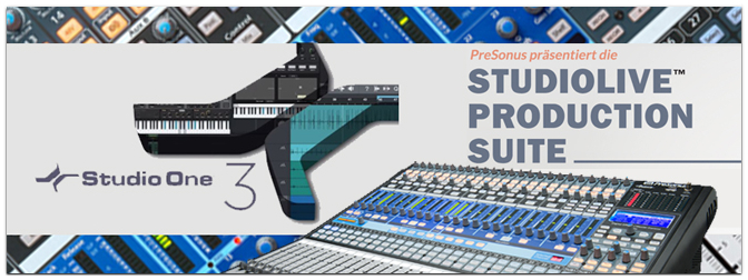 PreSonus: 444,00 € sparen durch Studiolive Production Suite