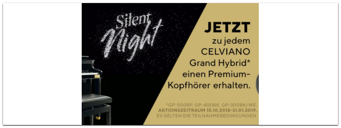 Aktion – Casio Silent Night bis zum 31.01.2019