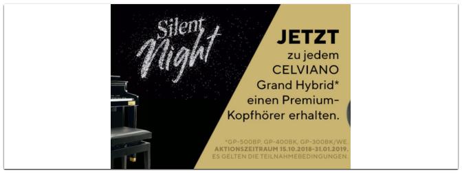 Aktion – Casio Silent Night bis zum 31.01.2019