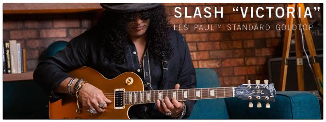 "Gibson Slash Collection: Gibson Slash ""Victoria"" Les Paul Standard Goldtop"