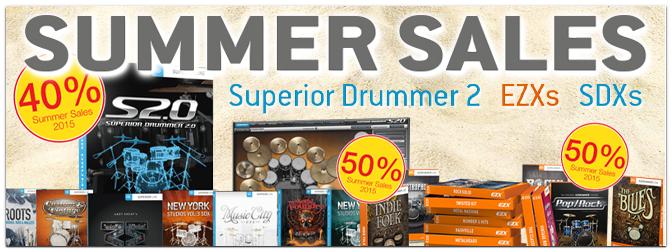 Toontrack Summer Sales: EZ Drummer EZX Erweiterungen -50%