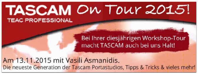 TASCAM Workshop-Tour 2015