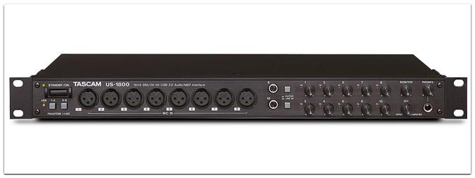 Neu – Tascam US 1800 USB Audio/Midi Interface