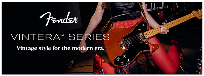Fender Vintera Series – Ab sofort im MUSIC STORE Online Shop!