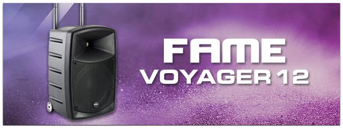 Fame Audio Voyager 12 – akkubetriebenes mobiles Lautsprecher-System