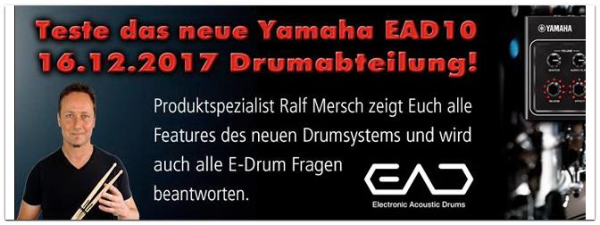 Workshop mit Ralf Mersch am 16.12.17 zum Yamaha EAD10 Modul