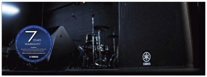 Yamaha DZR, DSR, DXR, DXS-XLF, DXS, 2+5 Jahre Erweiterte Garantie