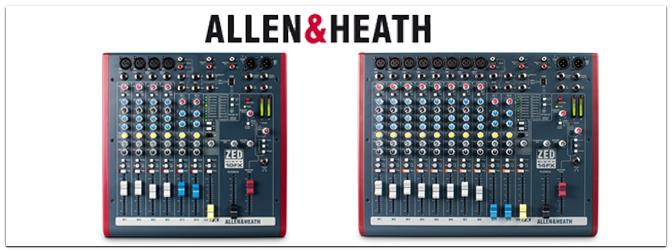 Allen&Heath – ZED60-10FX und ZED60-14FX