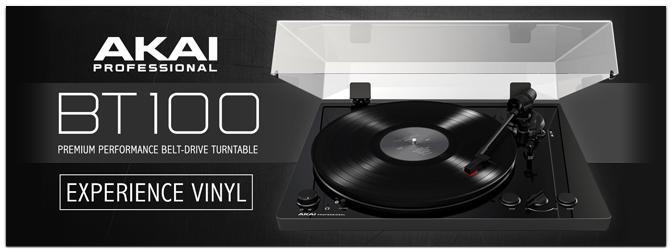 Akai Professional BT100 – Riemengetriebener Plattenspieler mit Bluetooth – Jetzt erhältlich!