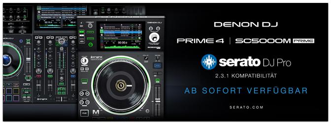 DENON DJ präsentiert Serato Control – jetzt verfügbar für SC5000M und PRIME 4!