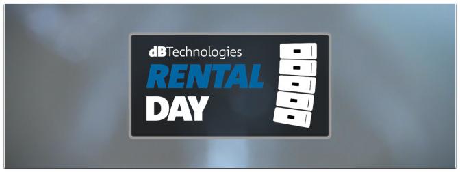 dBTechnologies Rental Day 2018