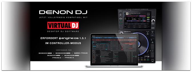 DENON DJ – PRIME Series jetzt mit Virtual DJ-Support!