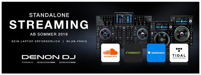 DENON DJ präsentiert die Integration von Musik-Streaming in Standalone DJ-Hardware