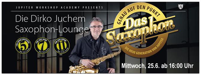 Von Null auf Jazz: Saxophonworkshop mit Dirko Juchem