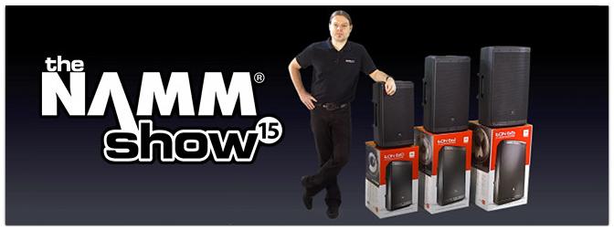 NAMM Show 2015 JBL EON 600 Serie PA Aktivlautsprecher