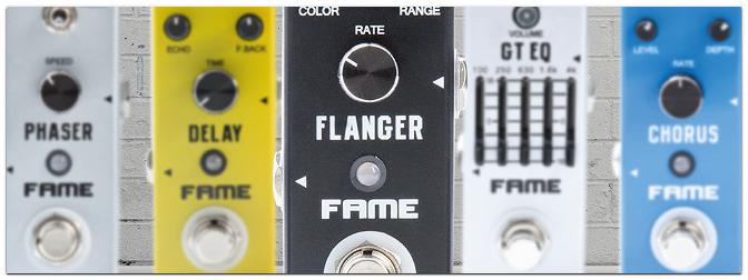 FAME Gitarren-Effektpedale im Mini-Format