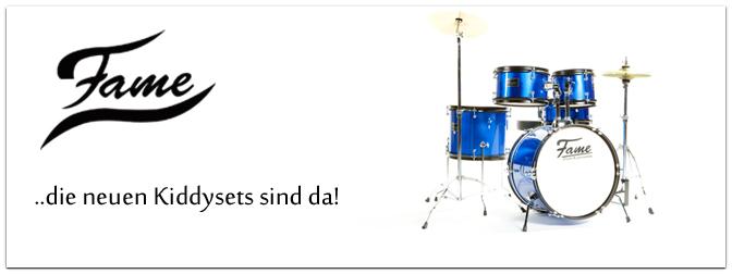 Großer Spaß für kleine Trommler – Die neuen Fame Kiddysets sind da!