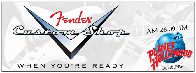 Große Fender Custom Shop Ausstellung mit Masterbuilder John Cruz
