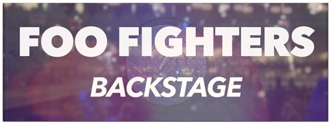 Backstage bei den FOO FIGHTERS in Köln