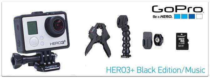 GoPro HERO3+ Black Edition – Music inkl. 32 GB Karte