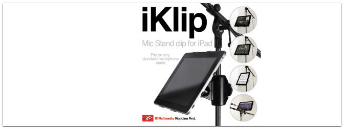 IK Multimedia – iKlip – iPad als Notenblatt