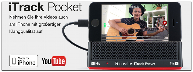 Focusrite iTrack pocket für iPhone