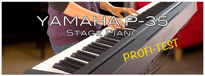 Profi-Test des Yamaha P-35 Stage Pianos