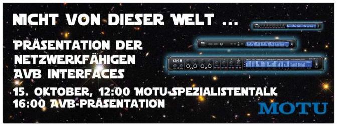 MOTU AVB Audio Interface Präsentation