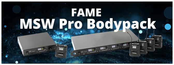 Fame audio – MSW Pro 1/2/4 Bodypack